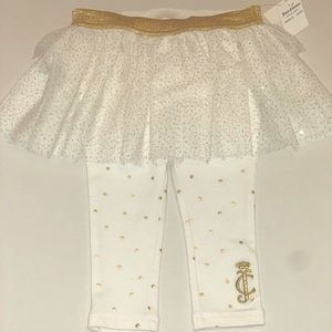 Juicy Couture Footless Leggings Ruffle Tutu Skirt